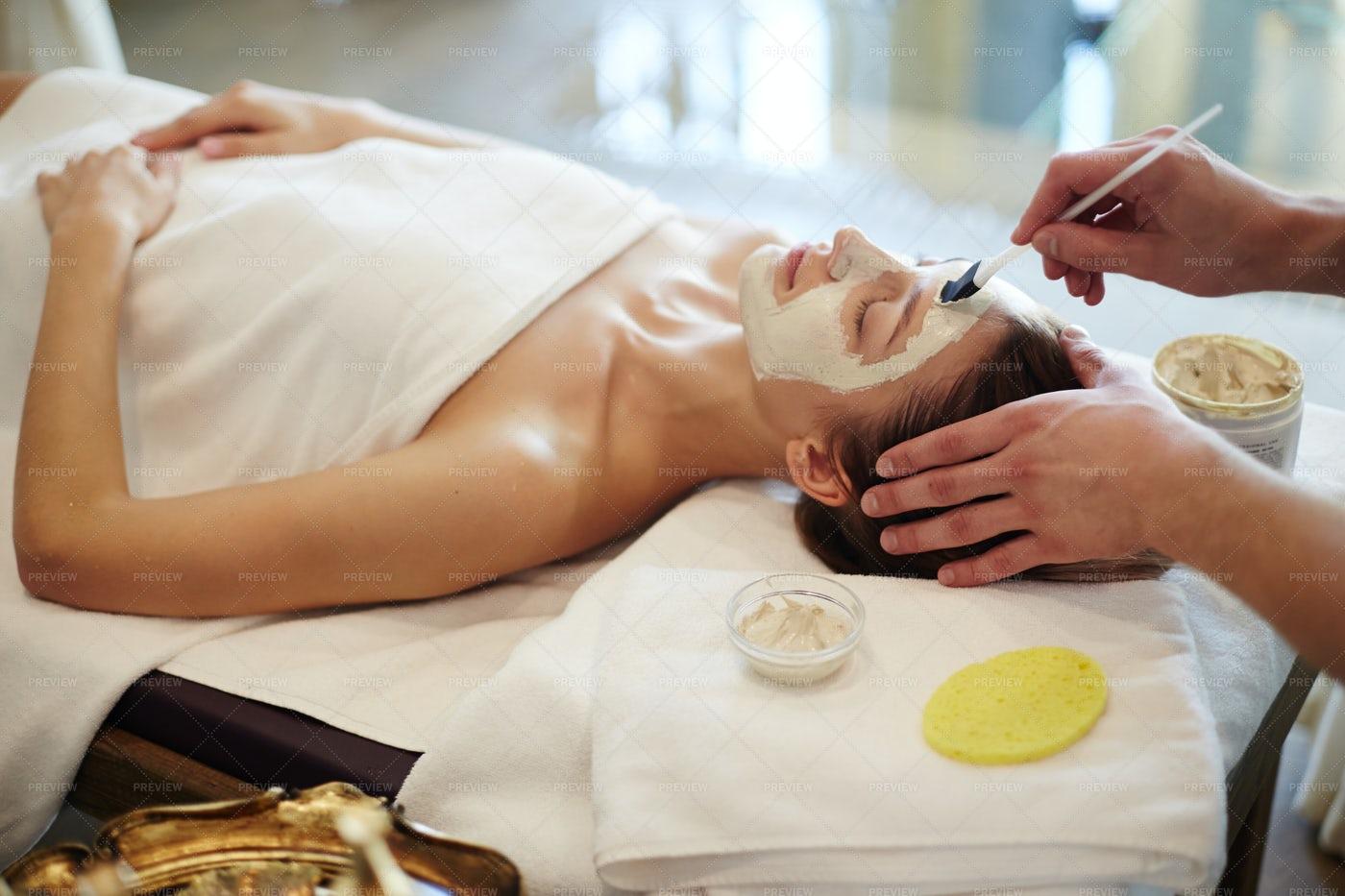 Skincare Procedures  In SPA: Stock Photos