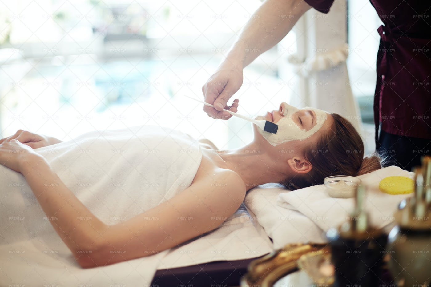 Skincare In Luxury SPA: Stock Photos