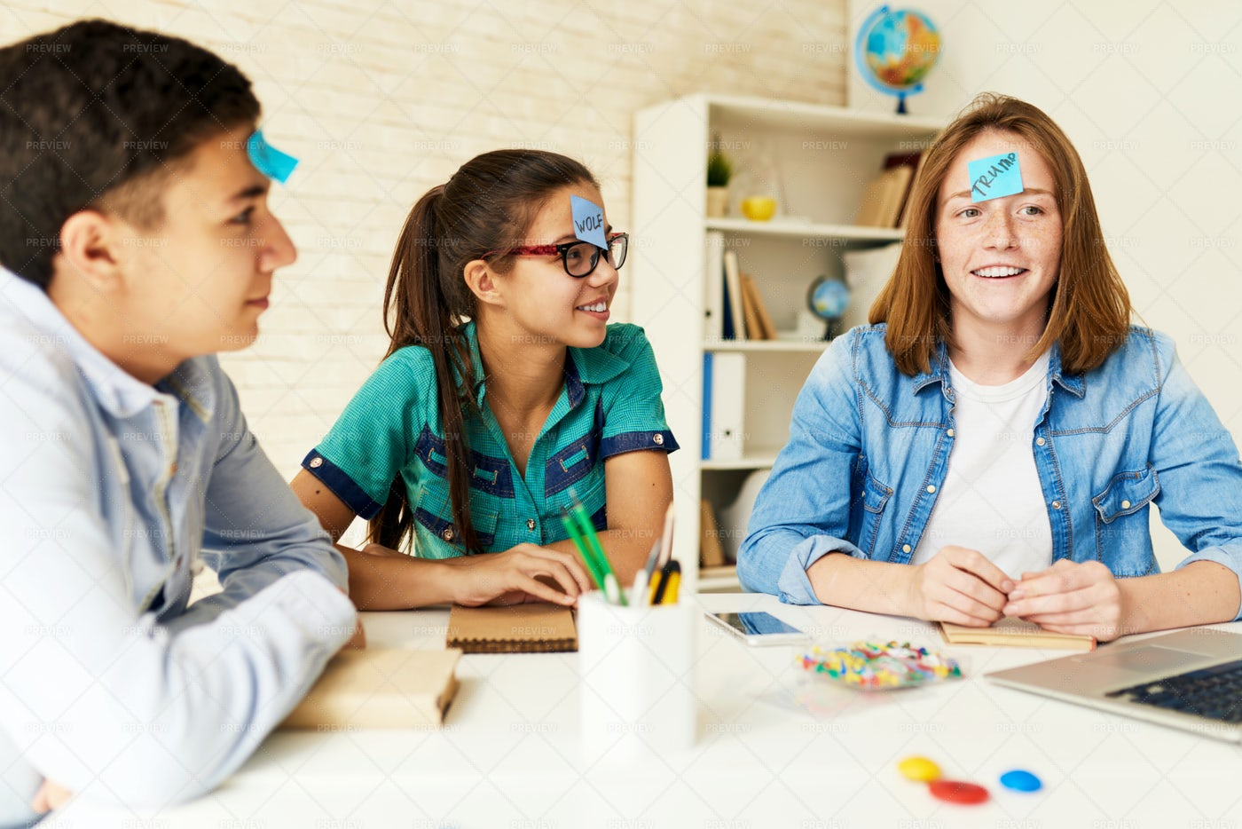 Children Playing Games In Classroom: Stock Photos