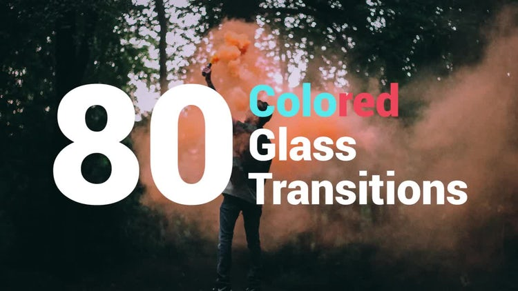 80 Colored Glass Transitions: Premiere Pro Templates