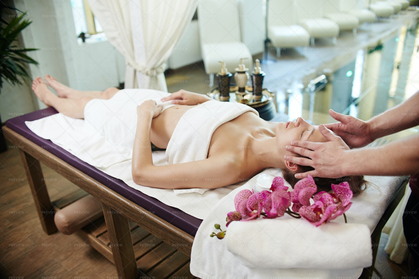 Woman Enjoying SPA Vacation: Stock Photos