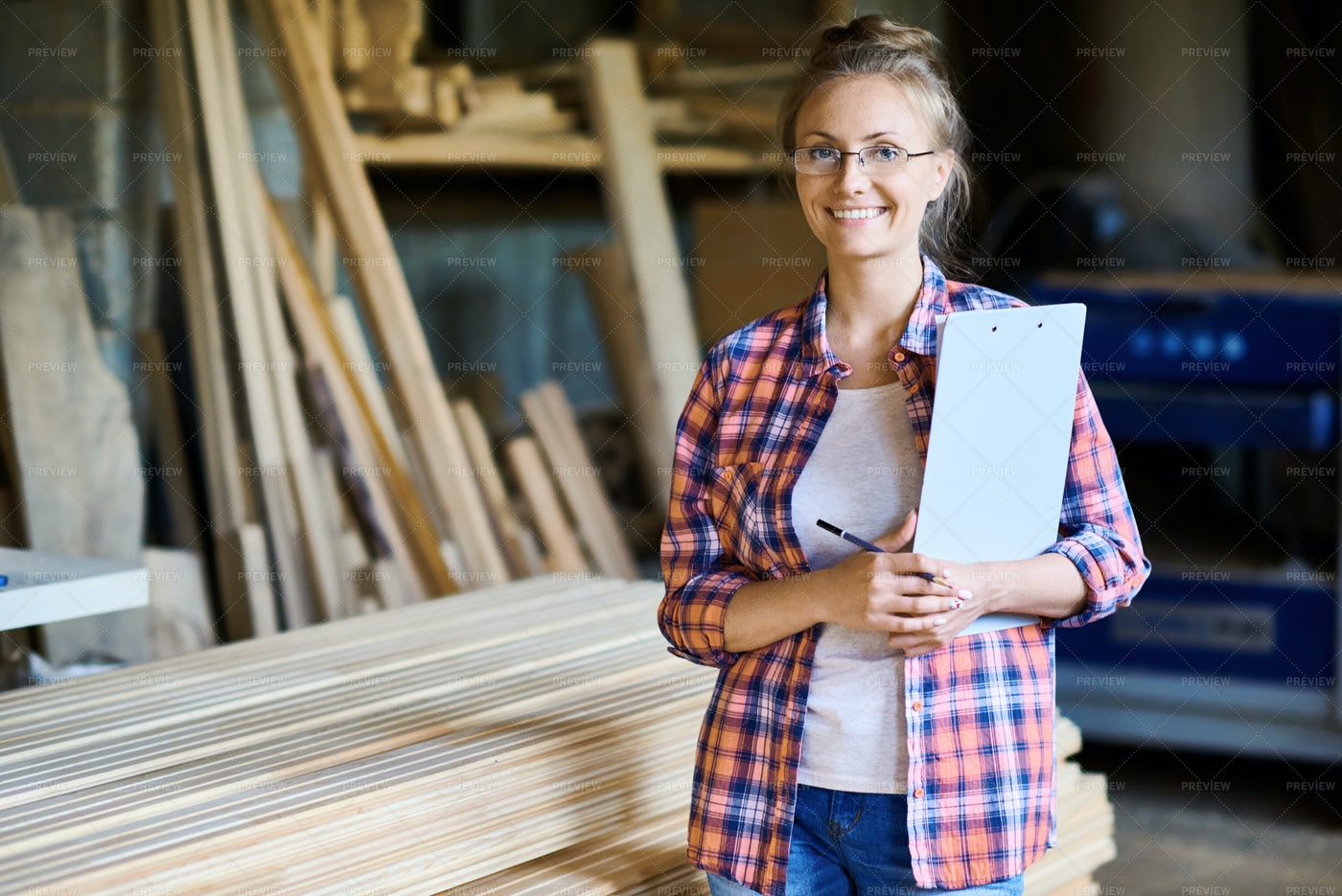 Joinery Manager Posing In Shop: Stock Photos