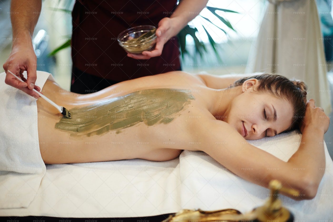 Mud Treatments In SPA: Stock Photos