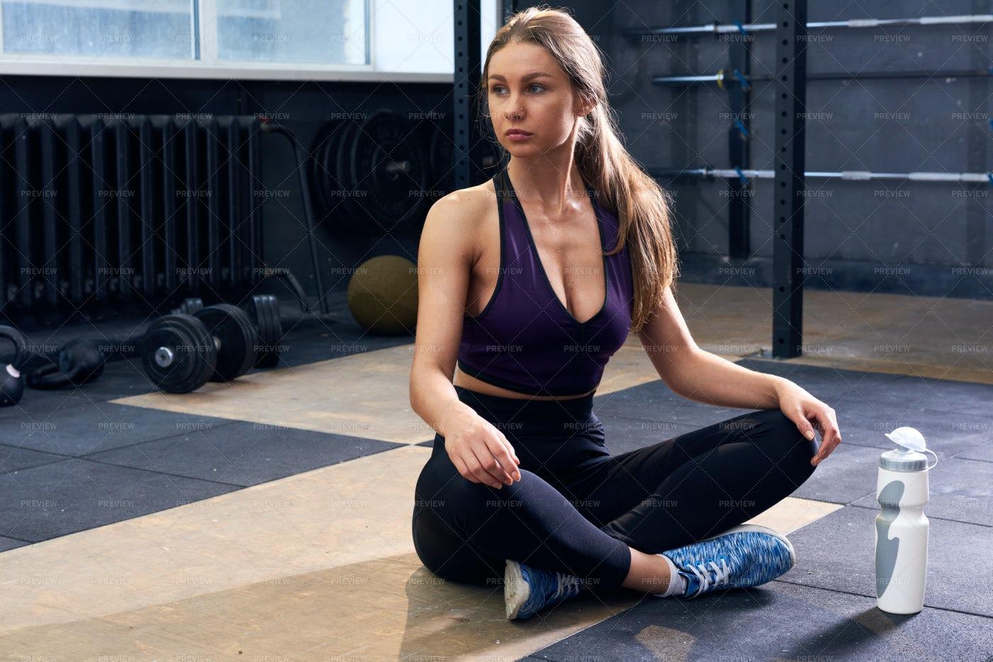 Beautiful  Woman In Gym: Stock Photos