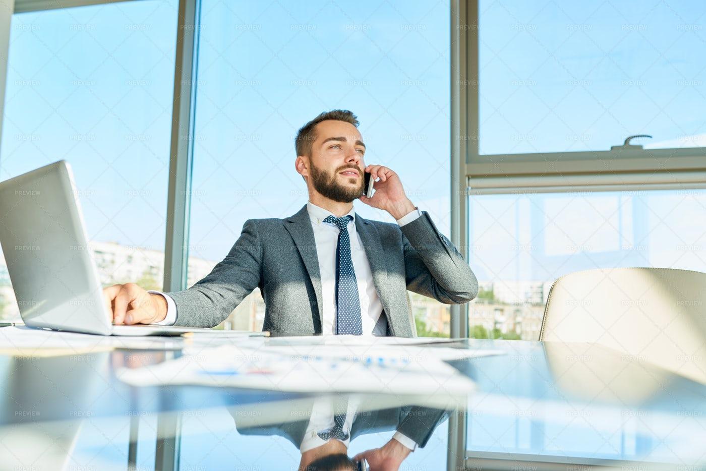 Businessman Making Money: Stock Photos