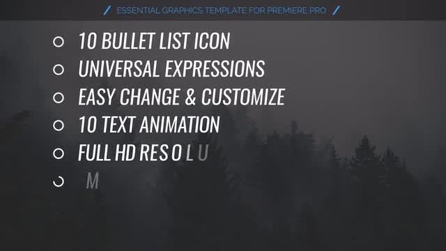 Bullet List Kit: Motion Graphics Templates