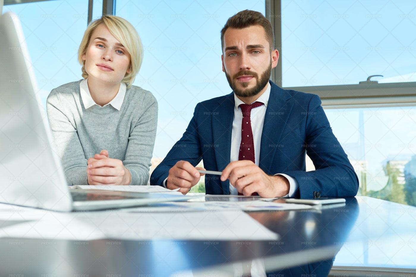 Young Business People Posing In...: Stock Photos