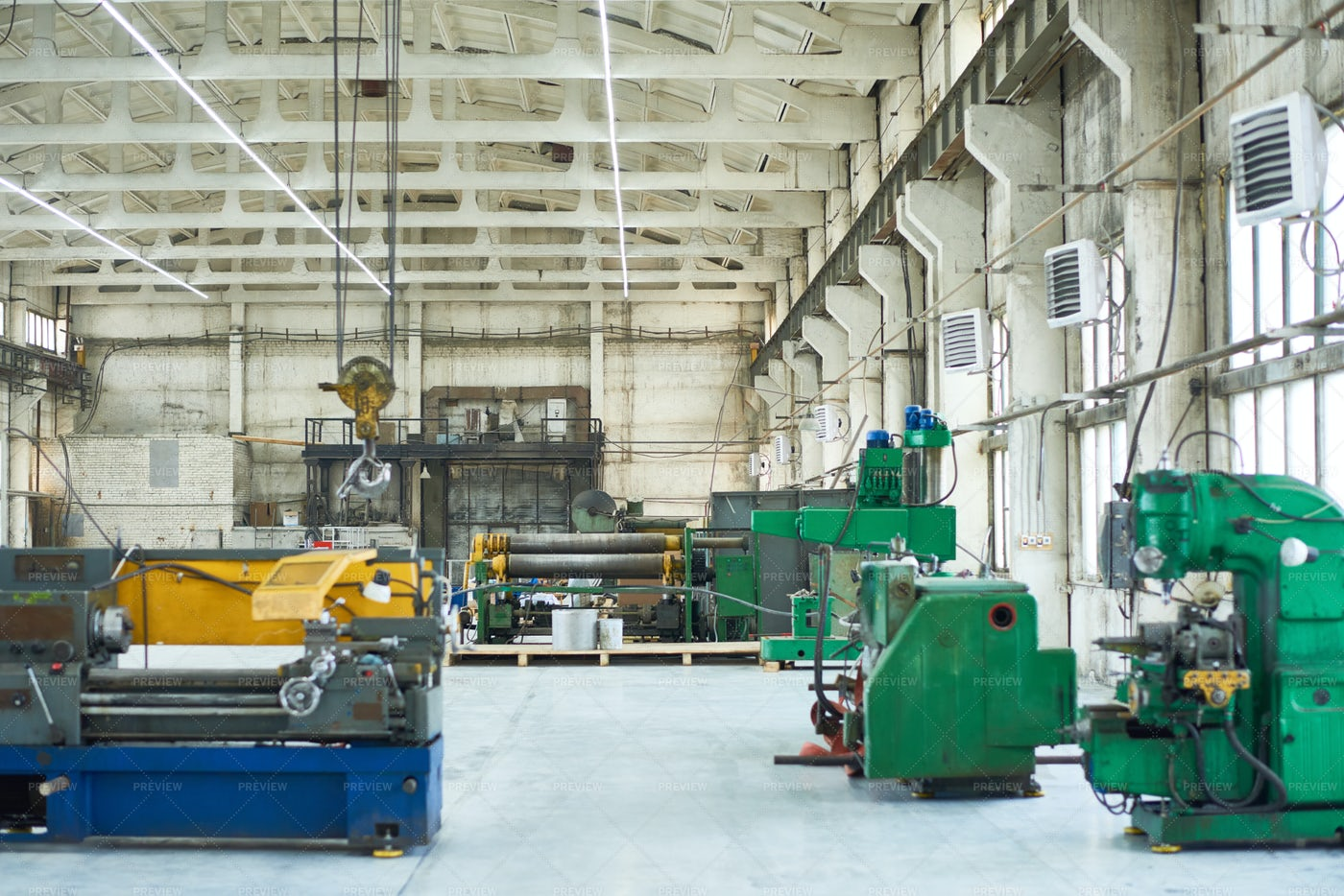 Modern Industrial Workshop With...: Stock Photos