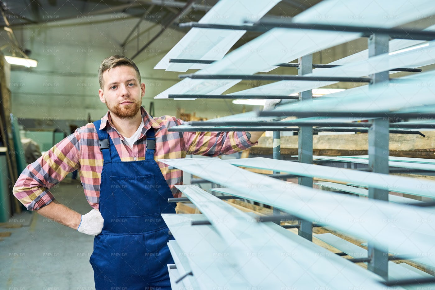 Young Factory Worker Posing In...: Stock Photos
