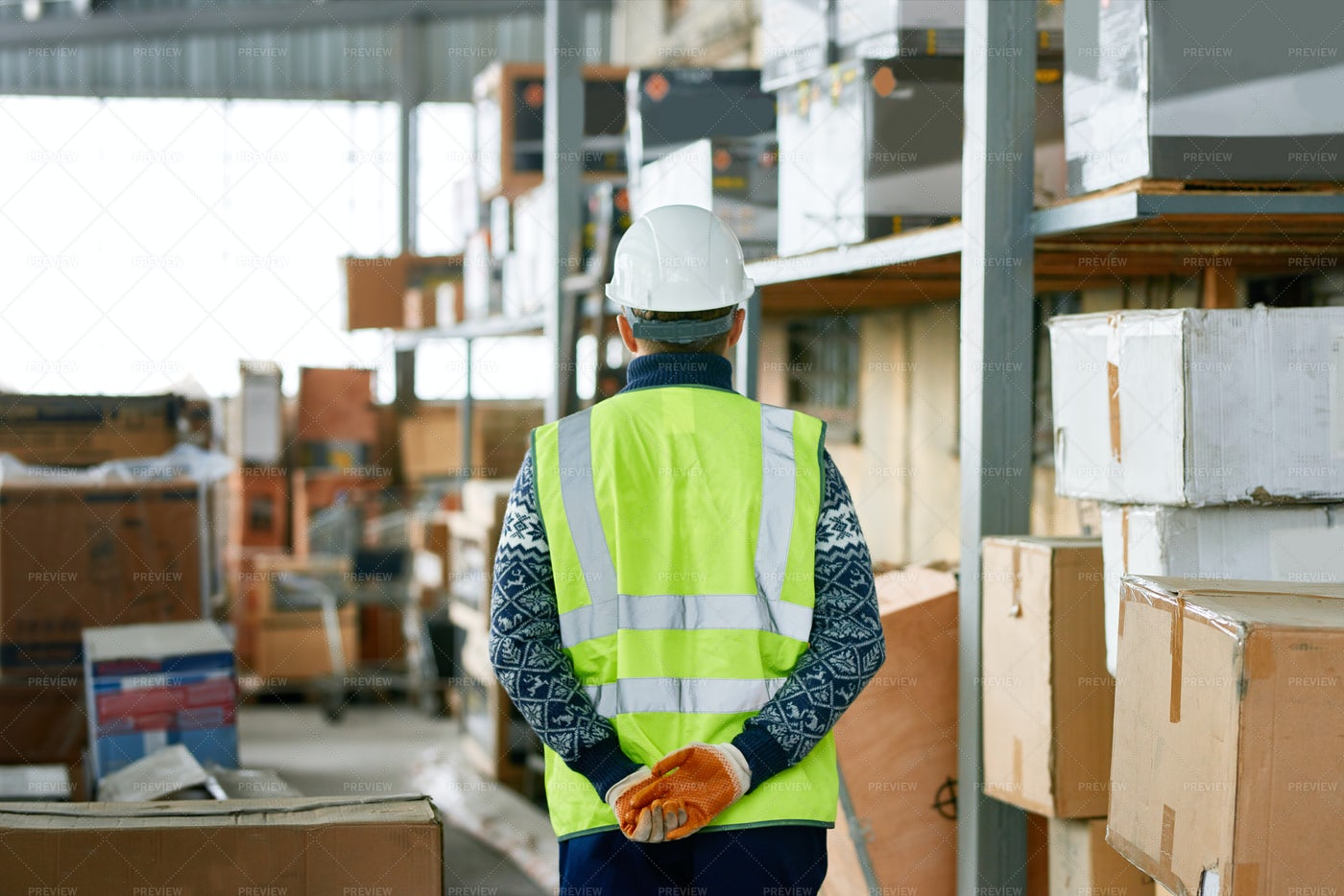 Worker In Warehouse: Stock Photos