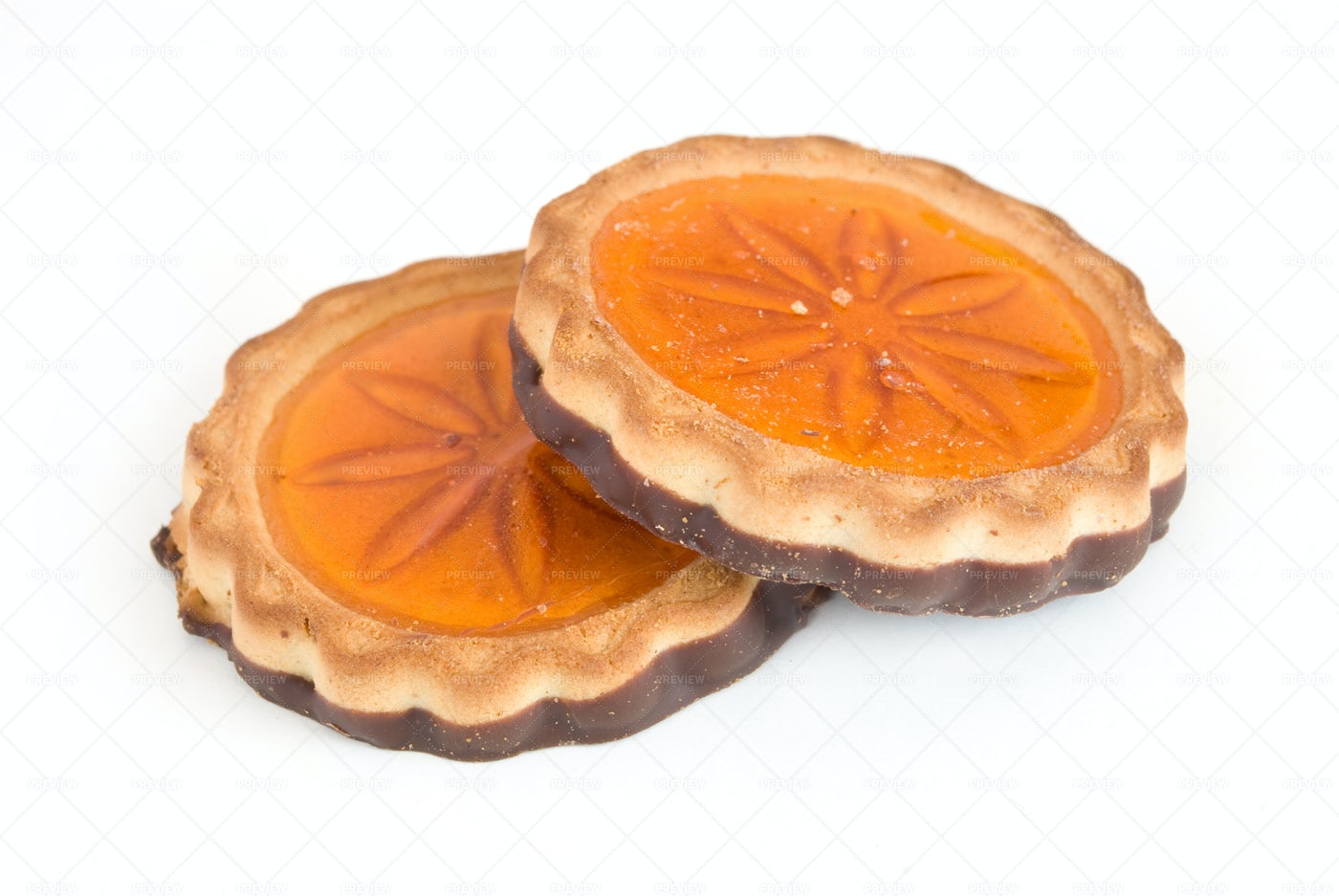 Round Cookies With Jelly: Stock Photos