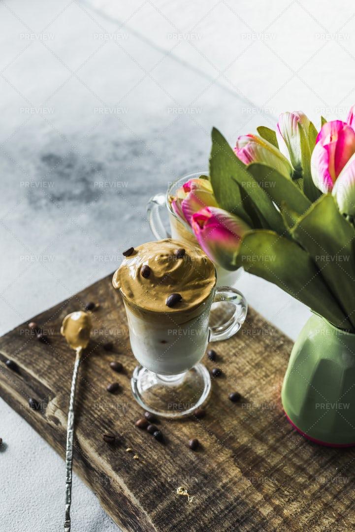 Korean Latte Ready To Drink: Stock Photos