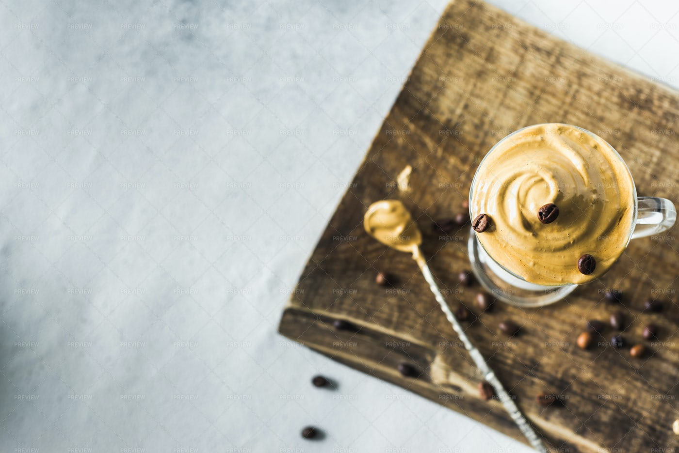 Prepared Korean Latte: Stock Photos