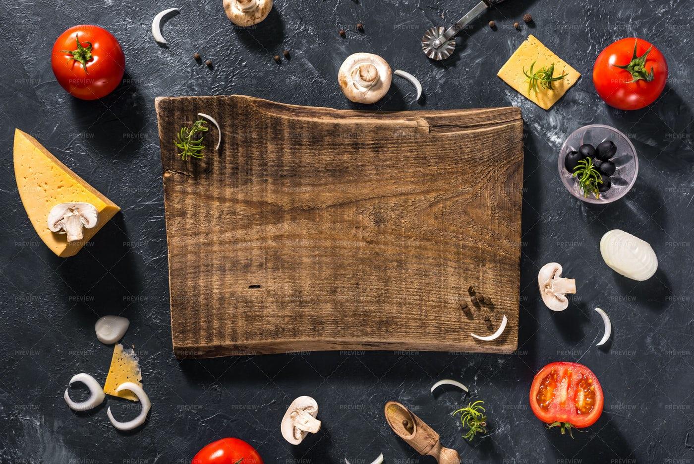 Ready To Prepare Pizza: Stock Photos