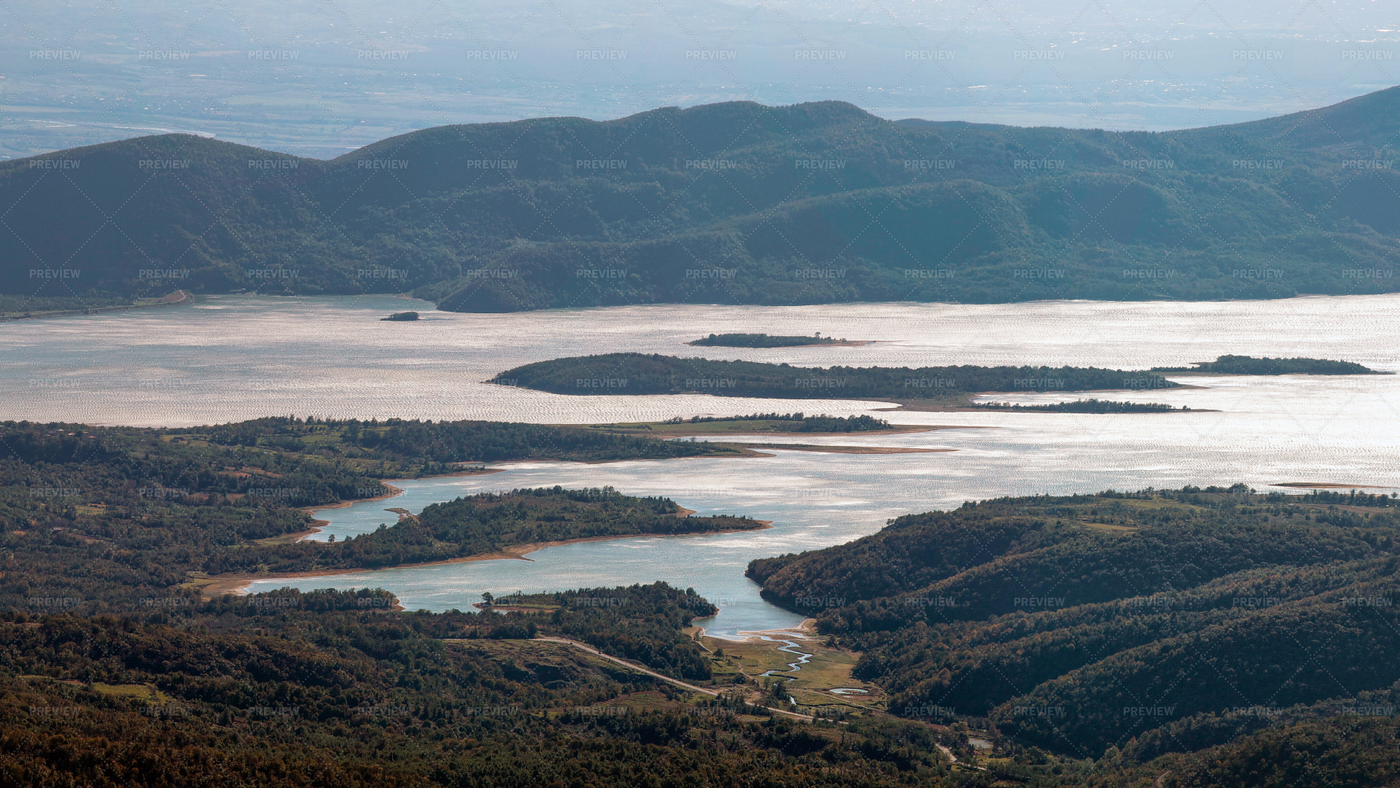 Aerial View Of Lake: Stock Photos