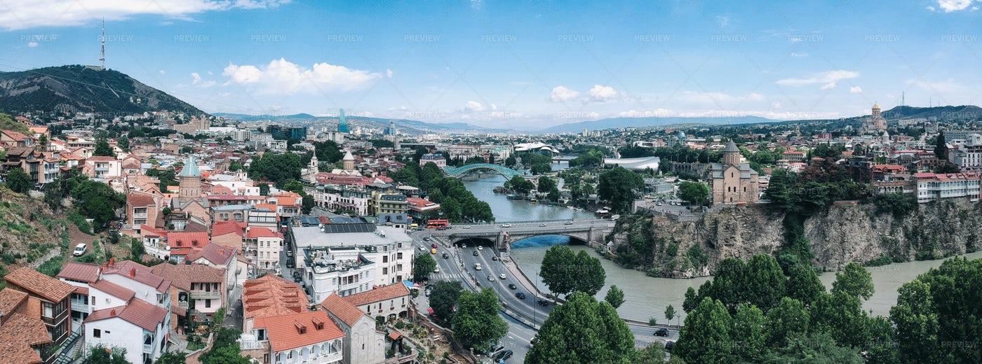 Panorama Of Tbilisi: Stock Photos