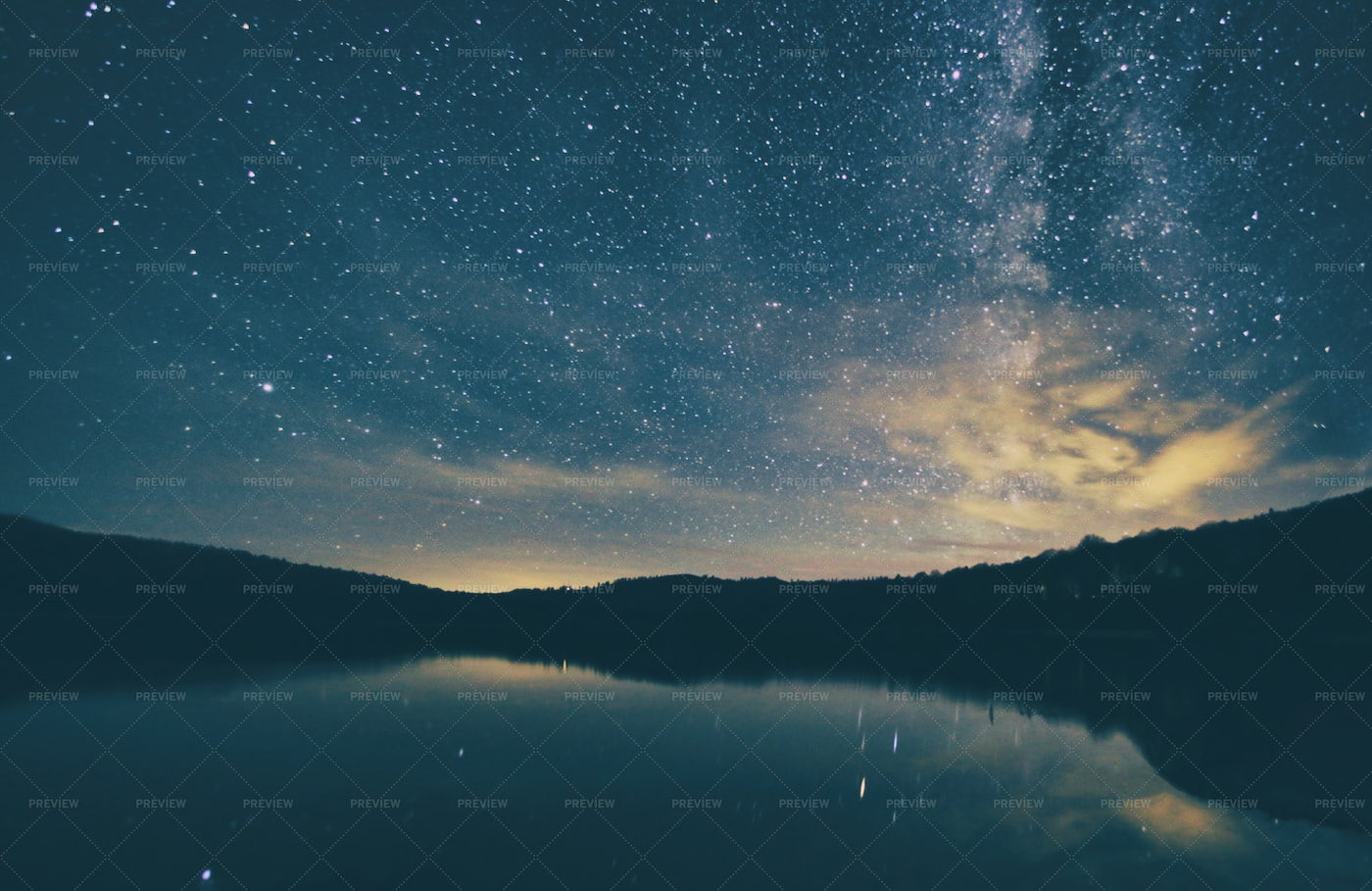 Milkyway And Lake: Stock Photos