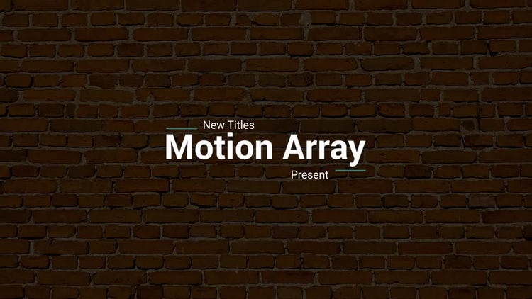 New Titles: After Effects Templates