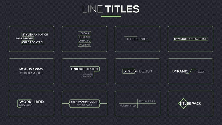 40 Line Titles: After Effects Templates