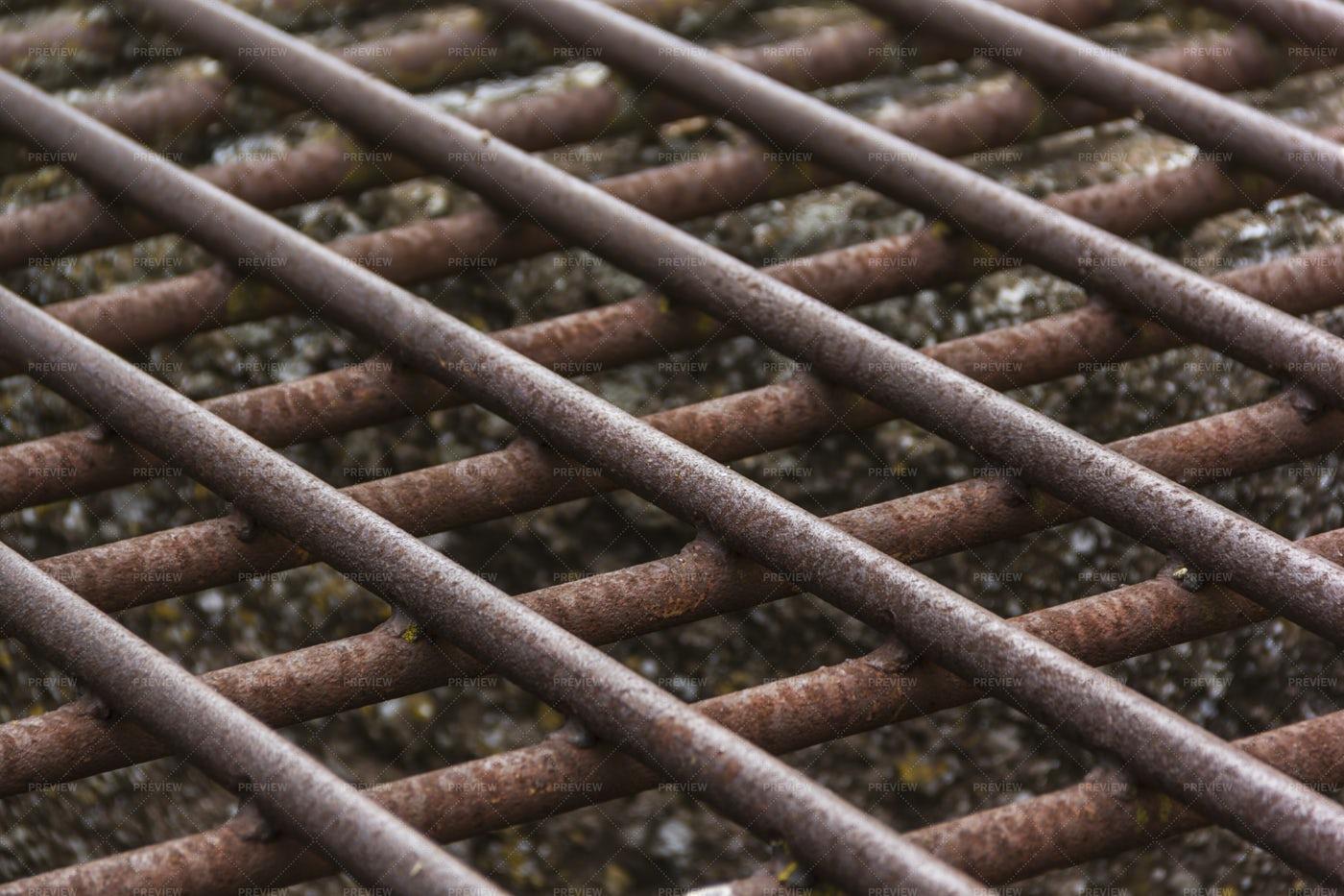 Metal Grill Close-Up: Stock Photos