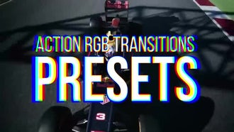 RGB Action Transitions Presets: Premiere Pro Templates