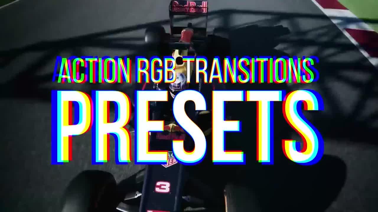 RGB Action Transitions Presets - Premiere Pro Presets