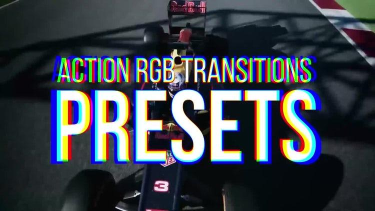 RGB Action Transitions Presets: Premiere Pro Templates