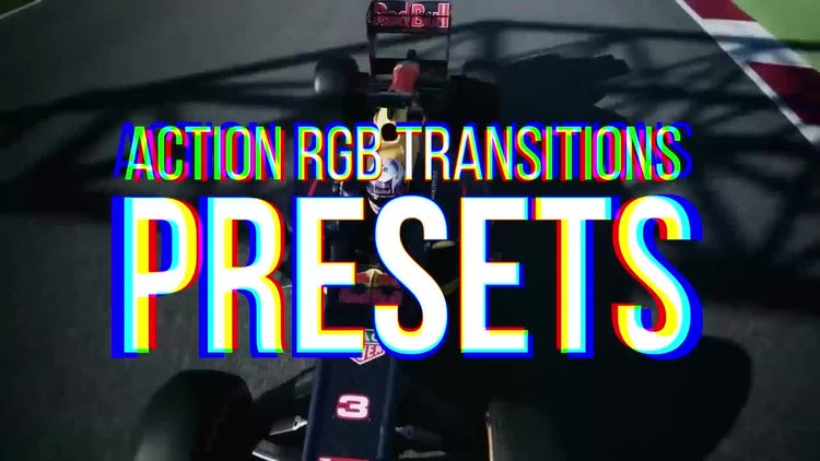RGB Action Transitions Presets: Premiere Pro Presets