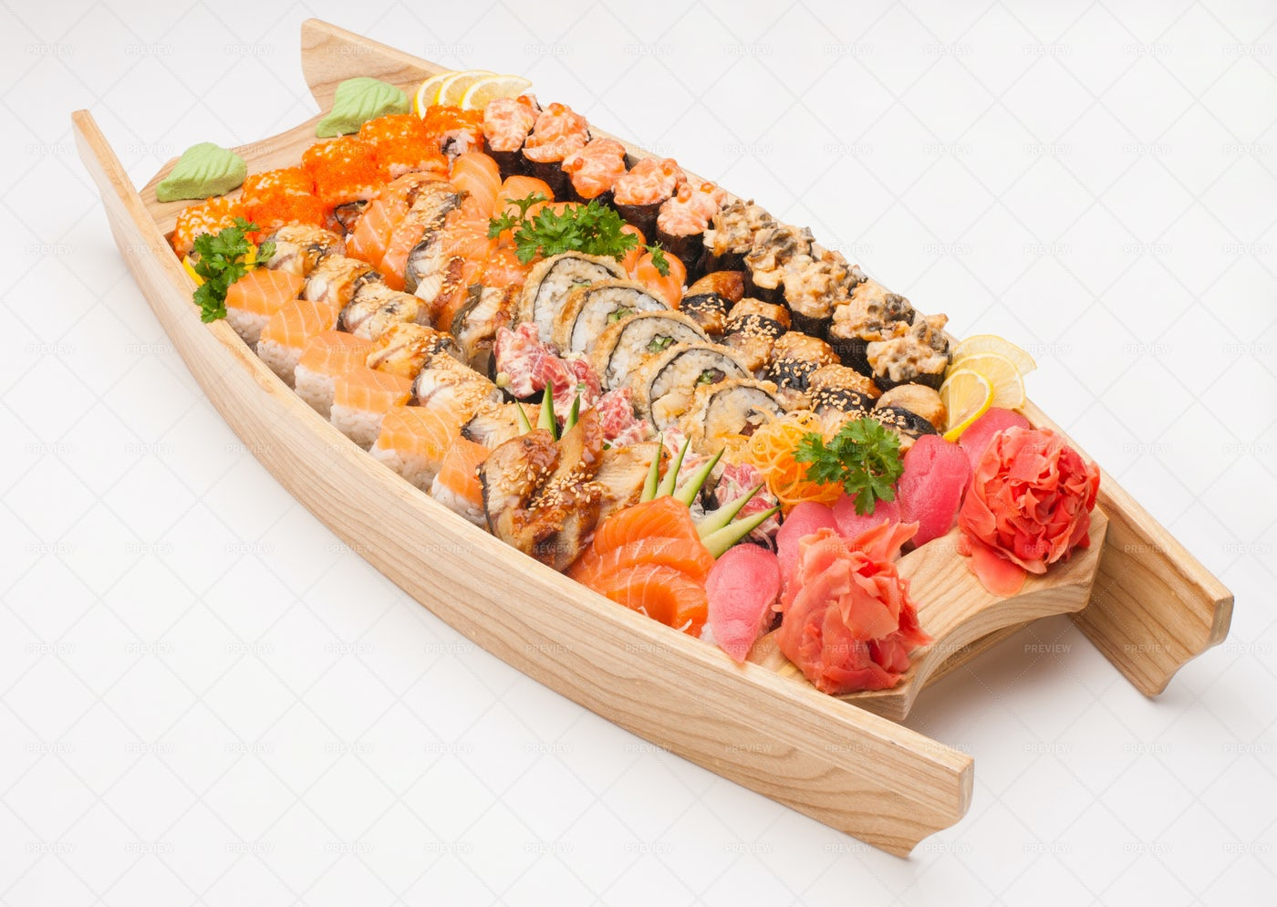 A Sushi Platter: Stock Photos
