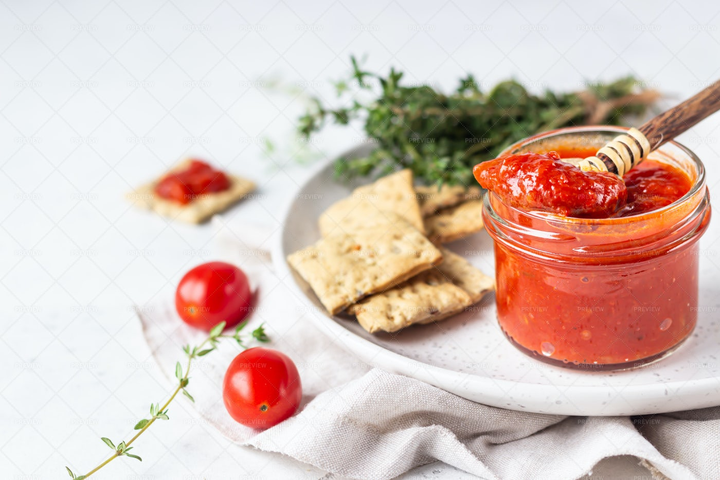 Red Pepper Spread: Stock Photos