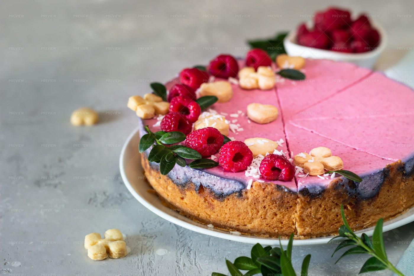 Raspberry Cheesecake: Stock Photos