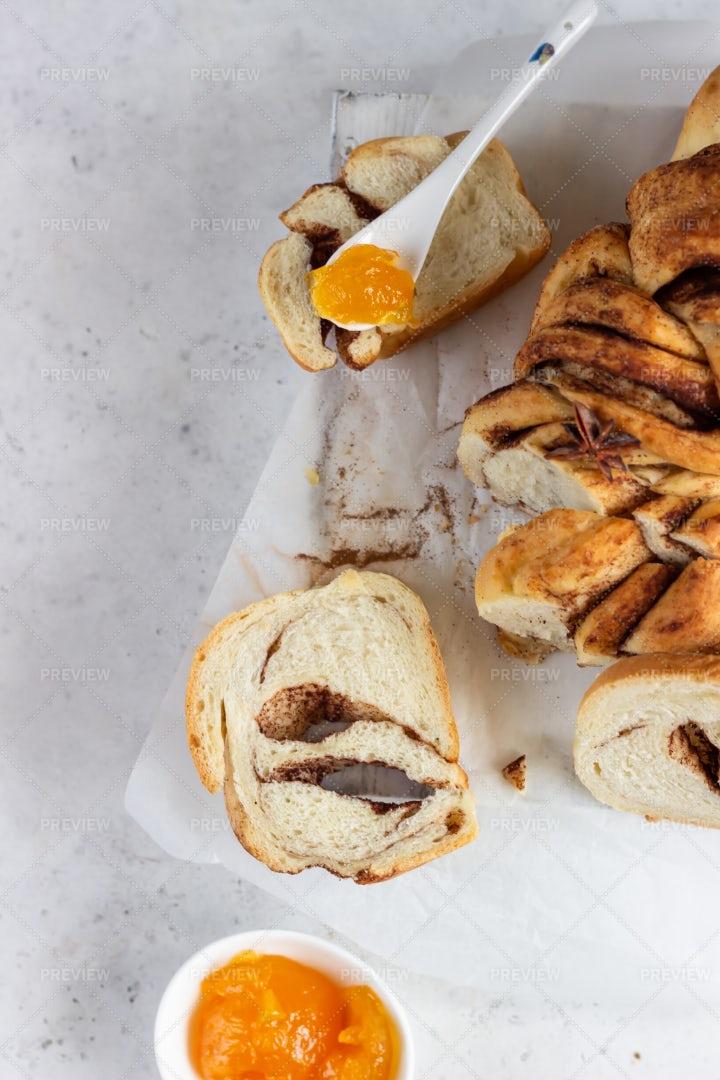 Bread With Cinnamon: Stock Photos