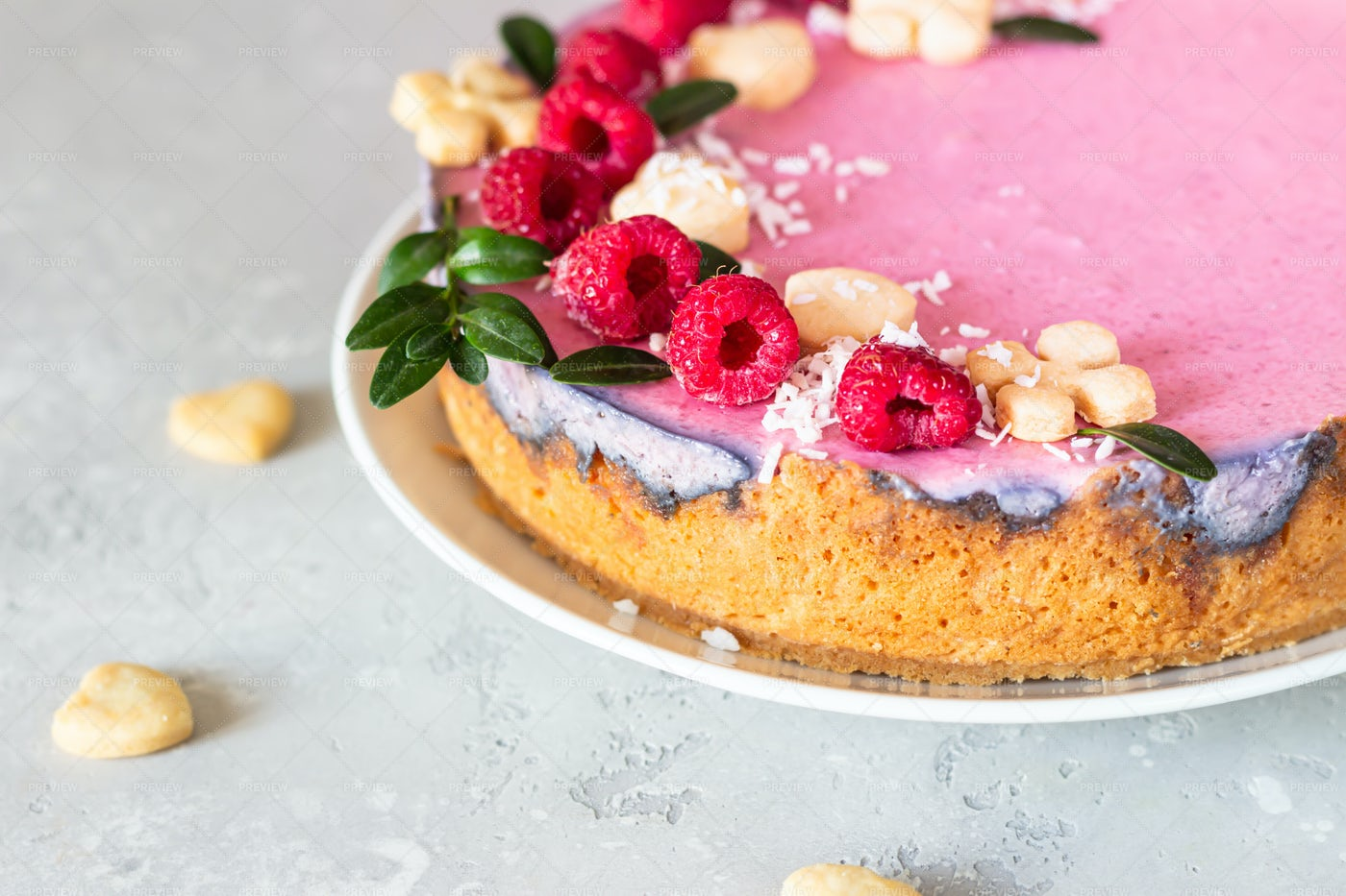 Creamy Mousse Cake: Stock Photos
