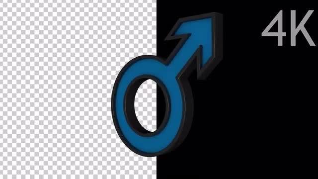 Male Symbol: Stock Motion Graphics