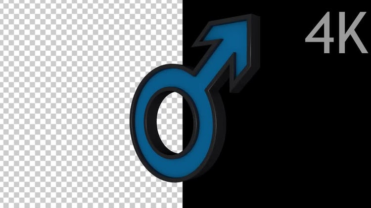 Male Symbol: Stock Motion Graphics