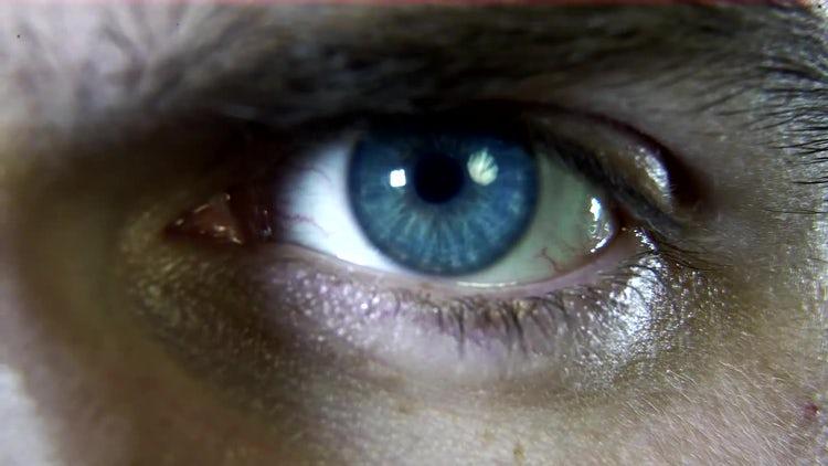 Scanner eye macro plan: Motion Graphics