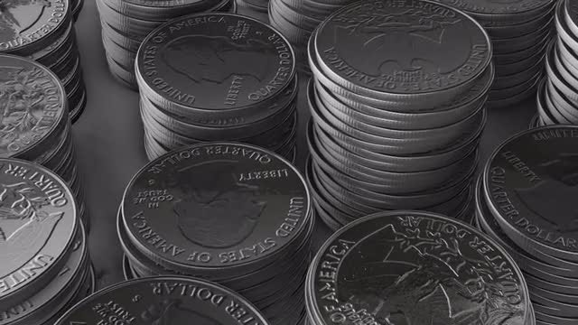 Stacks of Shiny Quarters: Stock Motion Graphics