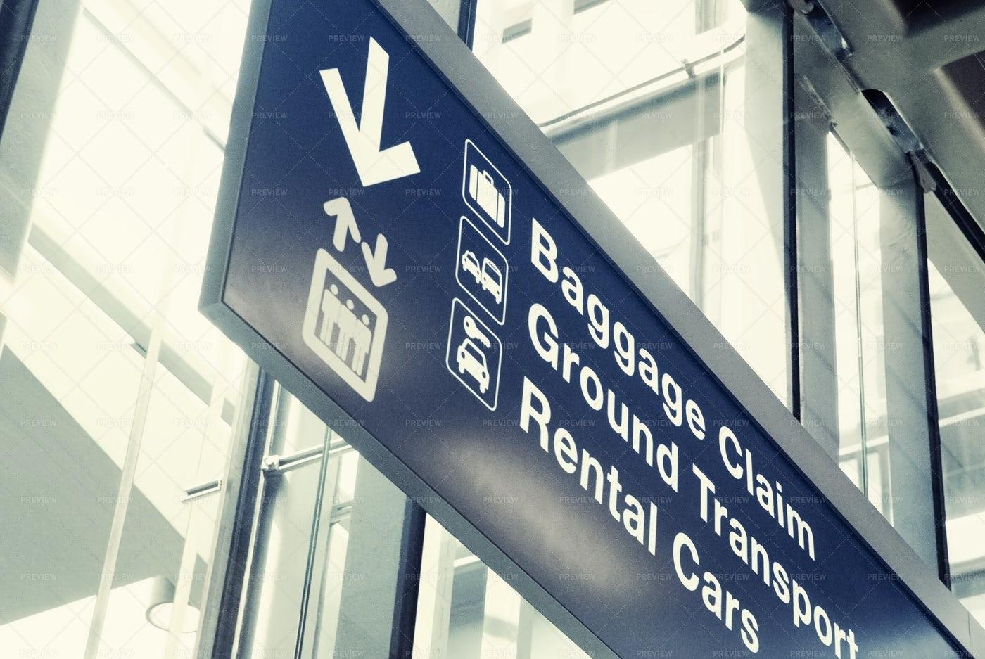 Airport Exit Sign: Stock Photos