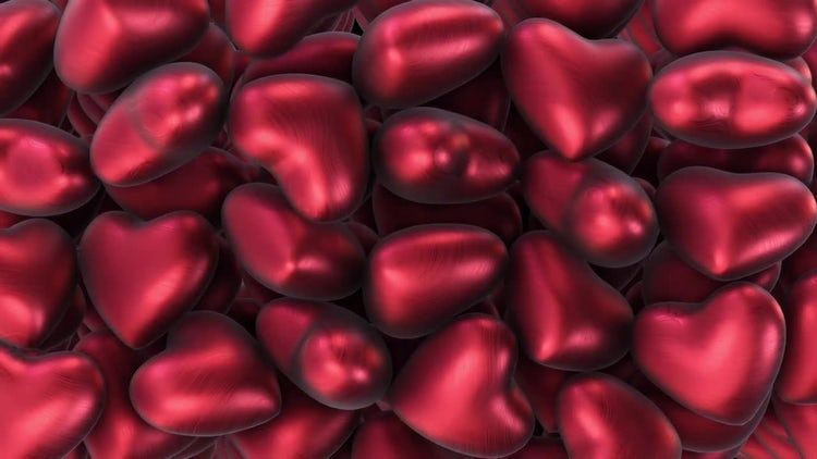 Floating Red Hearts Background: Motion Graphics