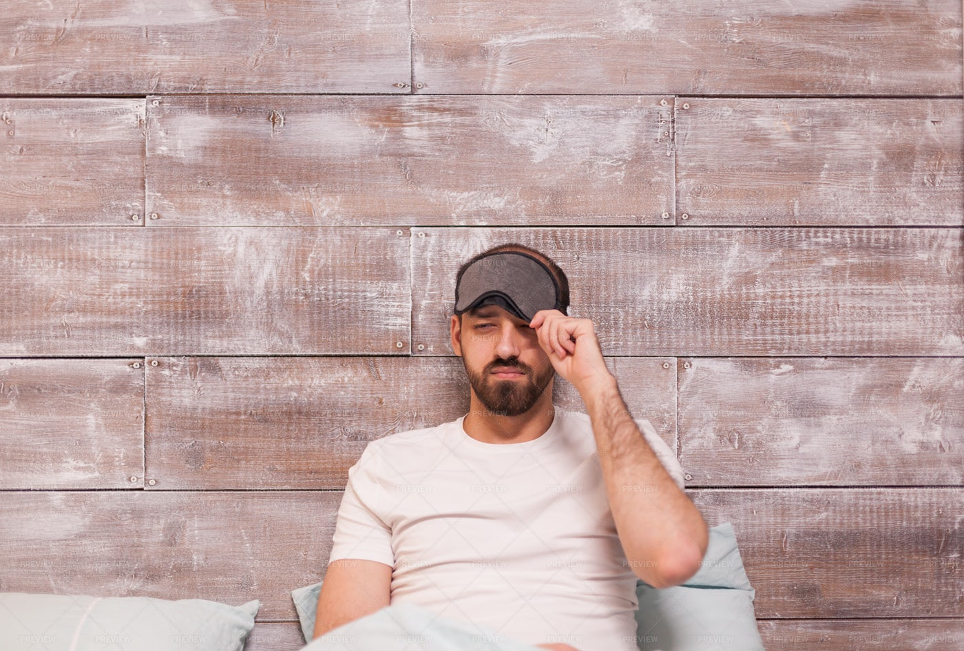 Wearing Sleep Mask: Stock Photos