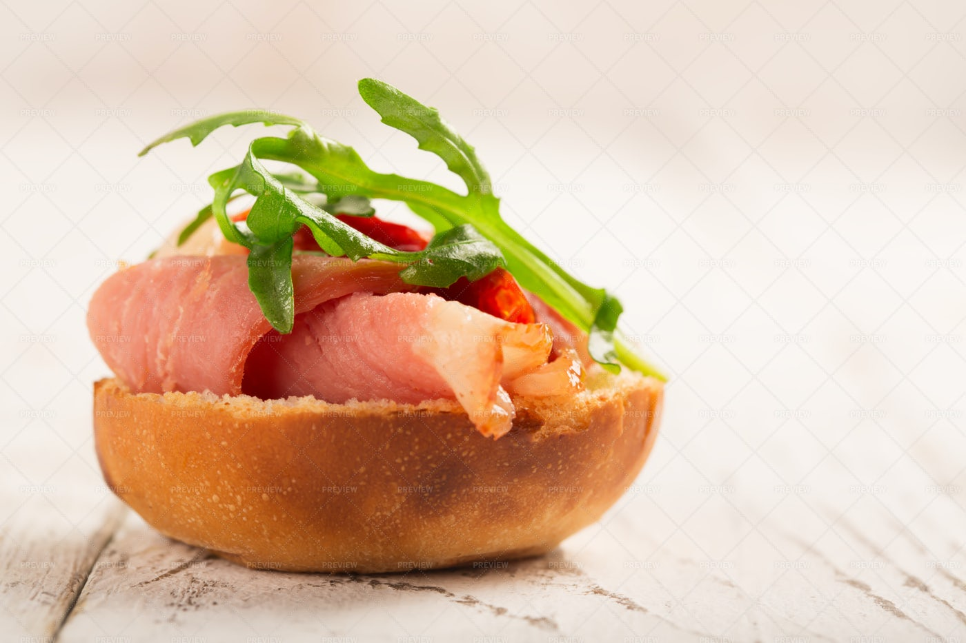 Duck Breast And Bread: Stock Photos