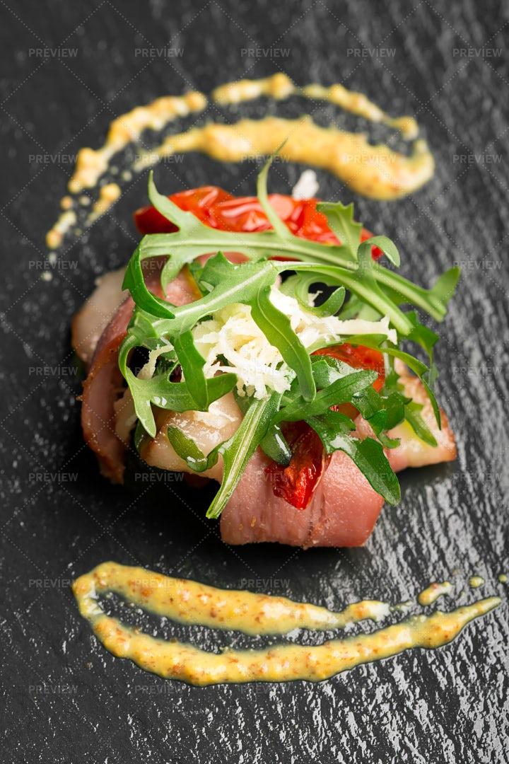 Duck Breast Salad: Stock Photos