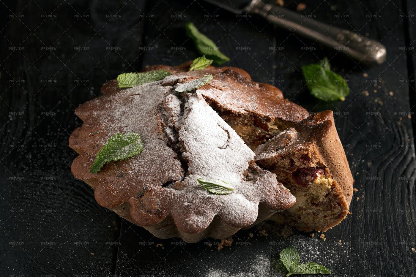 Chocolate Cake Close-Up: Stock Photos
