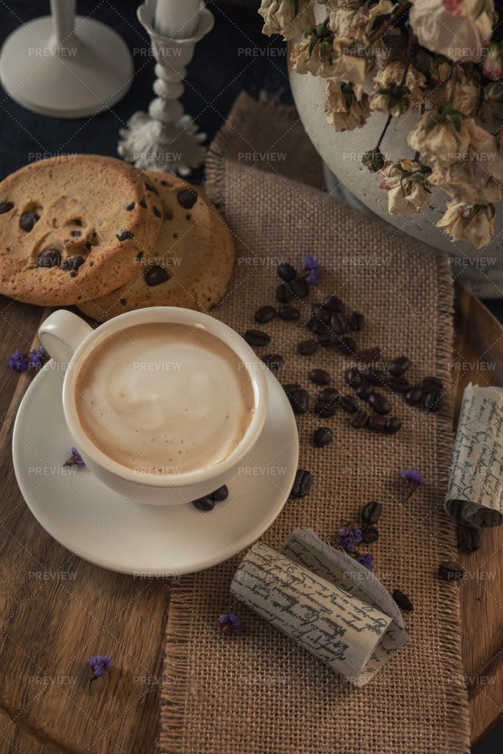 Coffee And Cookies: Stock Photos