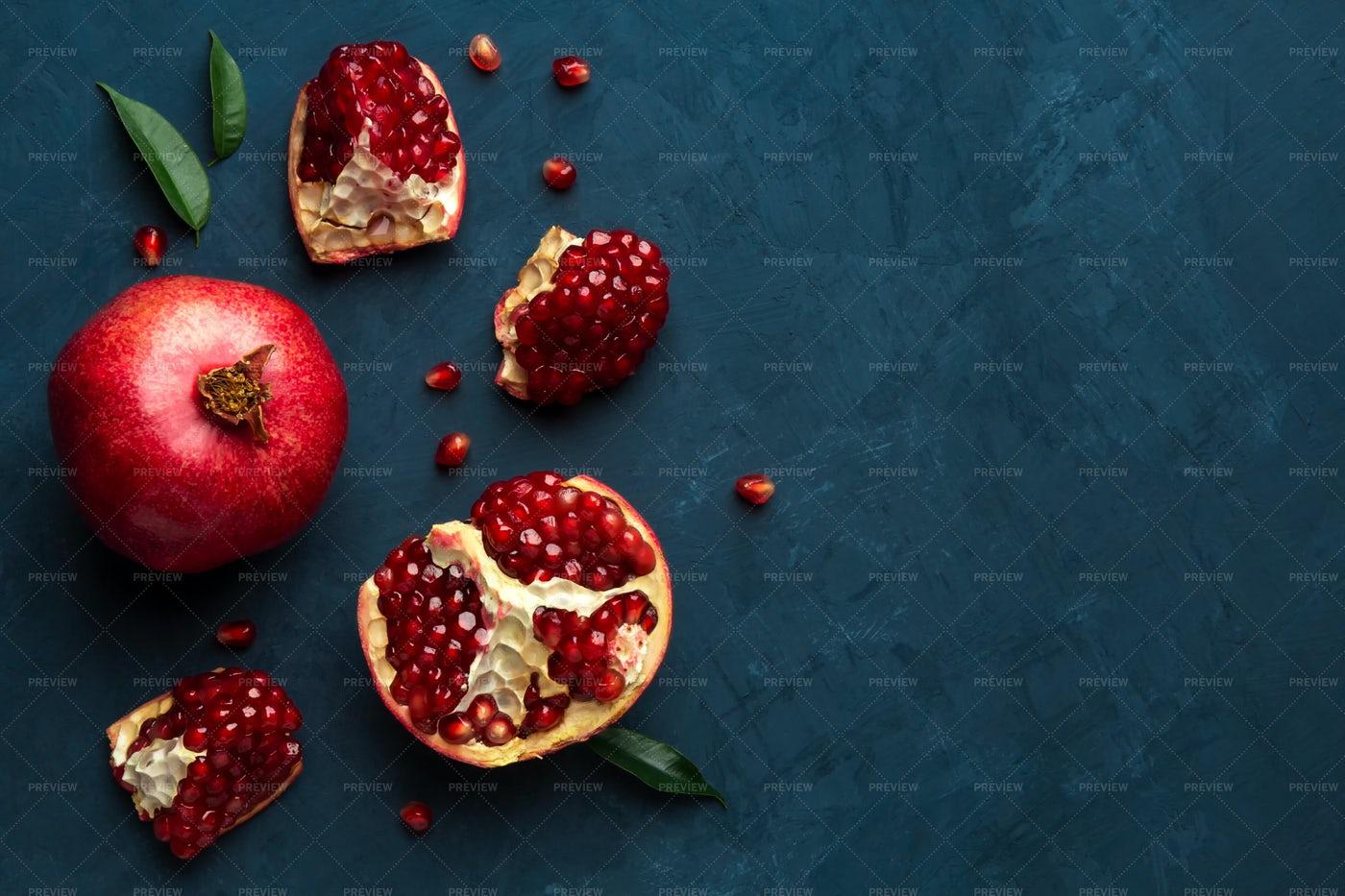 Juicy Pomegranate: Stock Photos