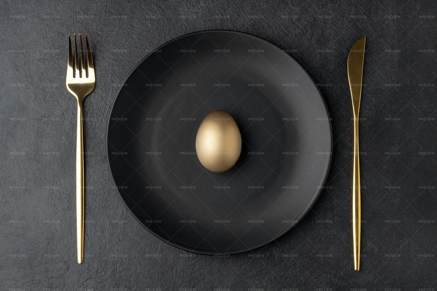 A Golden Easter Egg: Stock Photos