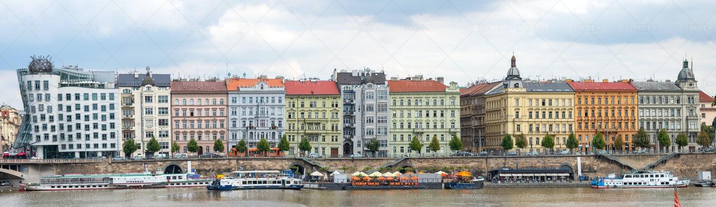 Prague's Colorful Architecture: Stock Photos