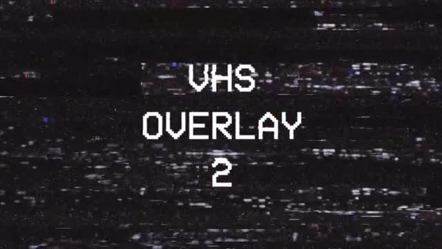 VHS Overlay 2: Stock Motion Graphics