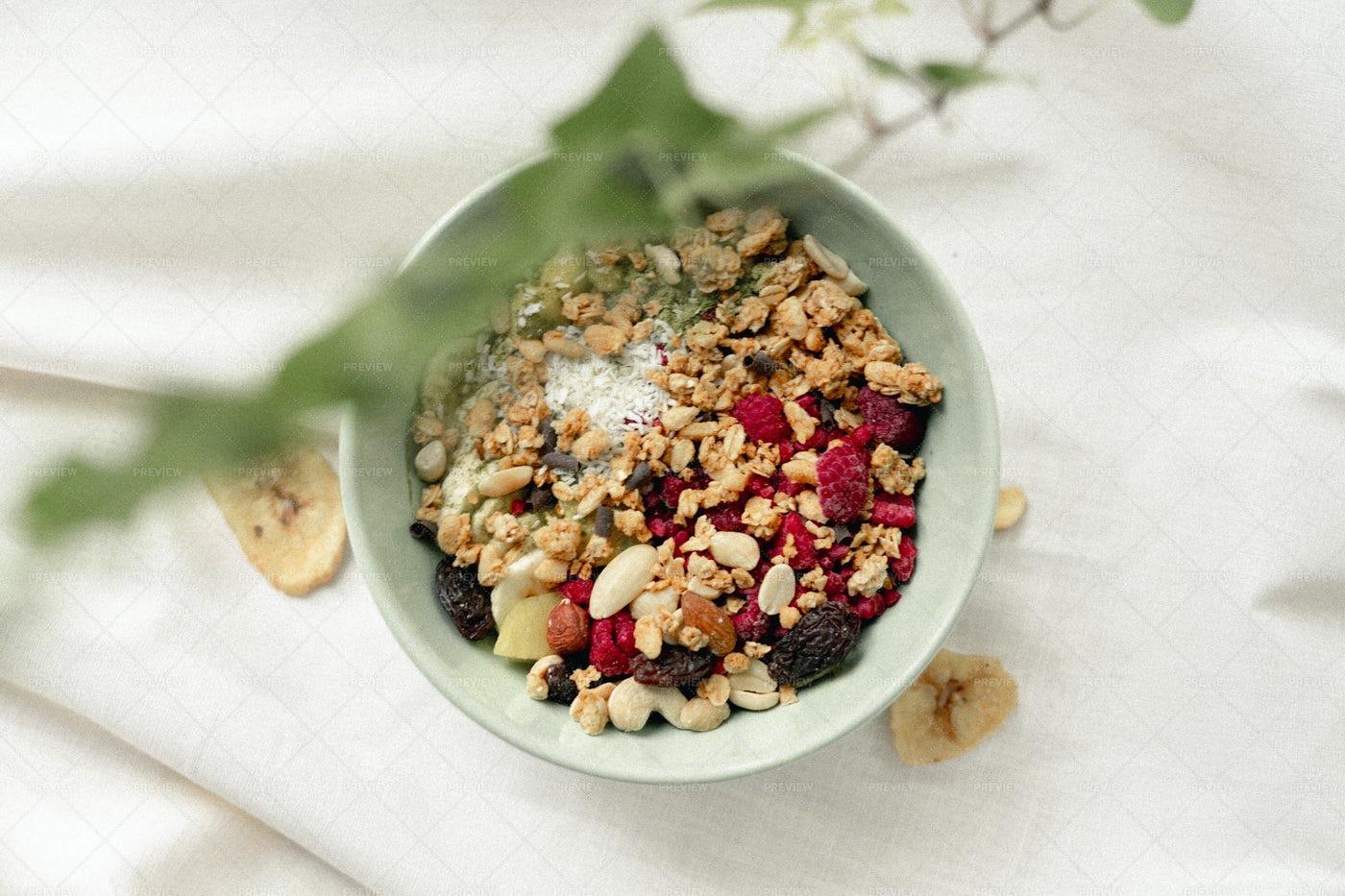 Granola For Breakfast: Stock Photos