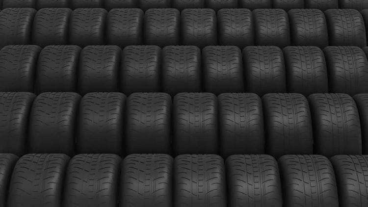 Automobile Tires: Stock Motion Graphics